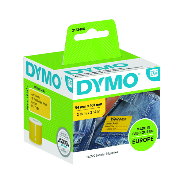Dymo LabelWriter Shipping labels 54x101mm Yellow (Pack of 220) 2133400