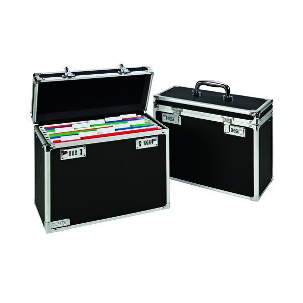 Leitz Mobile Filing Case Upto 15 File Capacity Foolscap Black 67170095