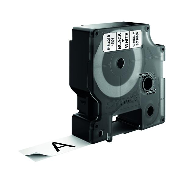 Dymo 45803 D1 LabelMaker Tape 19mm x 7m Black on White S0720830