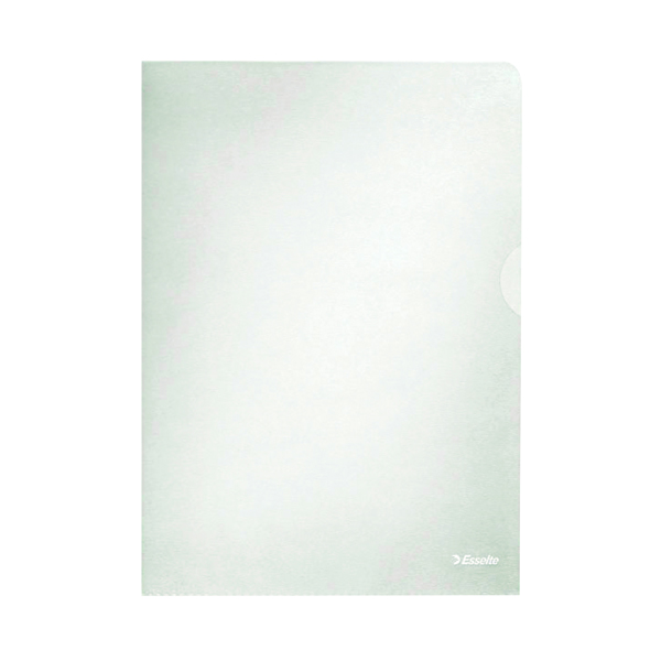Esselte Clear Embossed Folders (Pack of 100) 54832