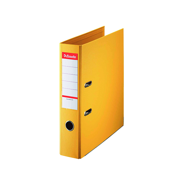 Esselte 75mm Lever Arch File Polypropylene A4 Yellow (Pack of 10) 48061