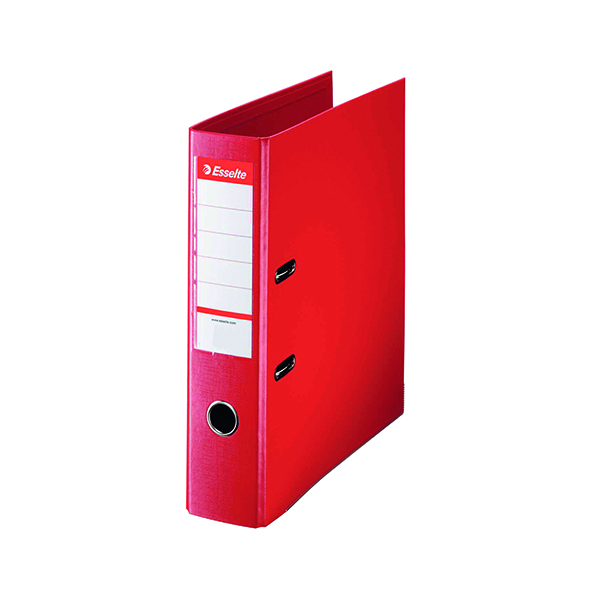 Esselte 75mm Lever Arch File Polypropylene A4 Red (Pack of 10) 48063