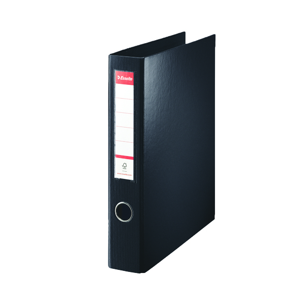 Esselte 4D-Ring Maxi A4 Binder 40mm Black (Features 4 D-ring mechanism and a linen feel cover) 82407