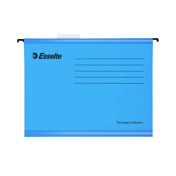 Esselte Classic Foolscap Blue Suspension File (Pack of 25) 90334