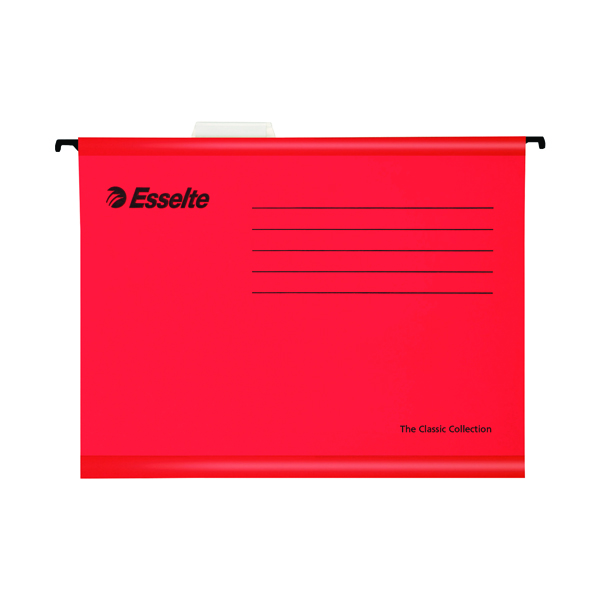 Esselte Classic Foolscap Red Suspension File (Pack of 25) 90336