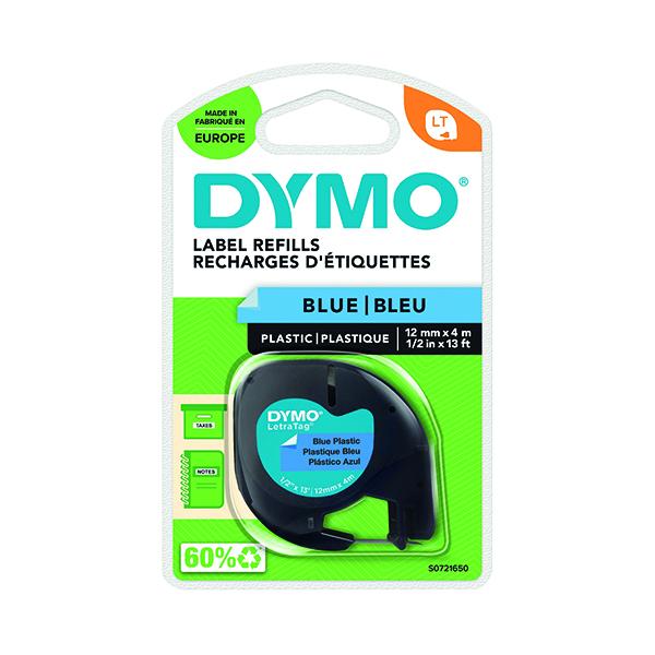 Dymo LetraTag Plastic Tape 12mm x 4m Ultra Blue S0721650