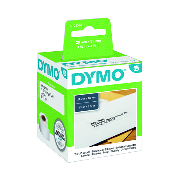 Dymo 99010 LabelWriter Address Labels 28 x 89mm S0722370