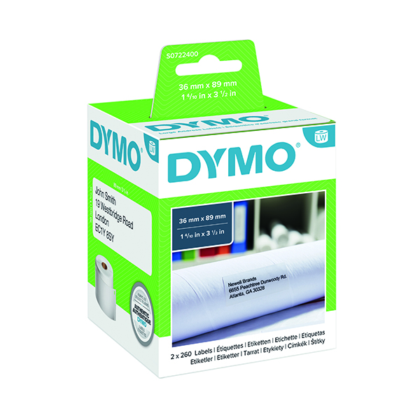 Dymo 99012 LabelWriter Large Address Labels 36 x 89mm White S0722400