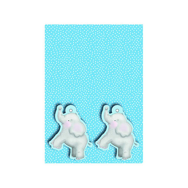 Blue Baby Elephant Gift Wrap and Tags (Pack of 12) 27228-2S2T