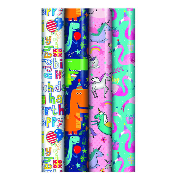 Assorted Kids Gift Wrap (Pack of 39) 27174-GW