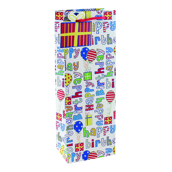 Image for Happy Birthday Bottle Bag (Pack of 6) 26955-4
