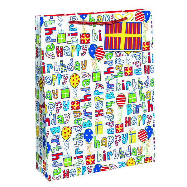 Image for Happy Birthday Gift Bag Large (Pack of 6) 26955-2