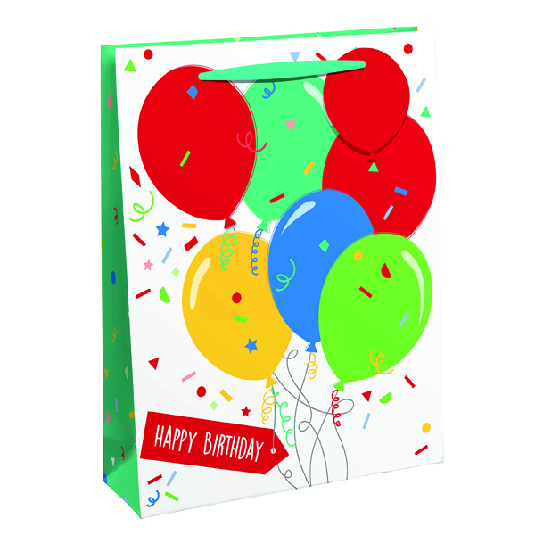 Happy Birthday Balloon Gift Bag Large (Pack of 6) 26952-2