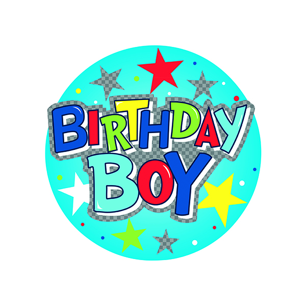 Birthday Boy Giant Badge (Pack of 6) 24780-BB
