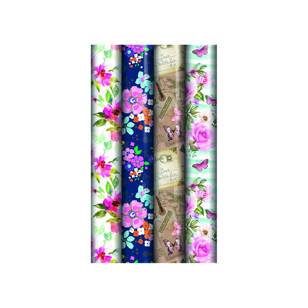 Assorted Floral Gift Wrap (Pack of 39) 24582-GW