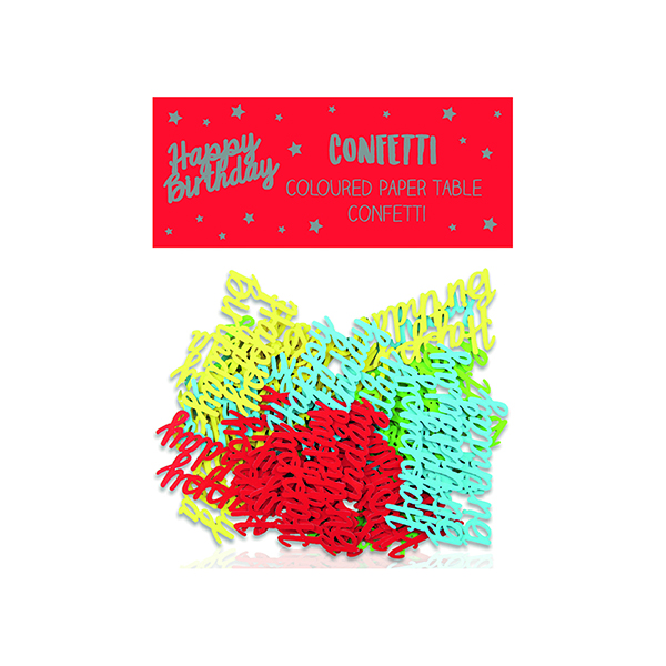 Happy Birthday Paper Table Confetti (Pack of 12) 24405-HB