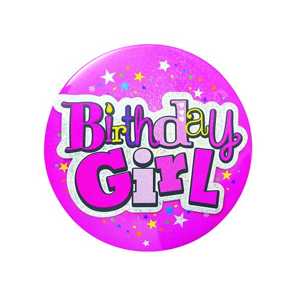 Birthday Girl Giant Badge (Pack of 6) 20880-BG-A