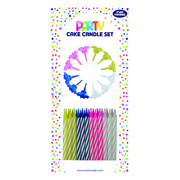 Cake Candle Set Multicolour (Pack of 6) 6846-CC-OBB