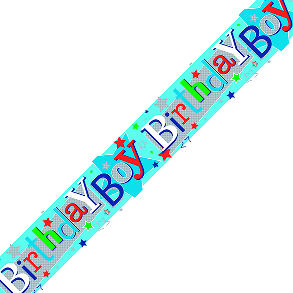 Birthday Boy Banner Blue (Pack of 6) 6837-HBB-3