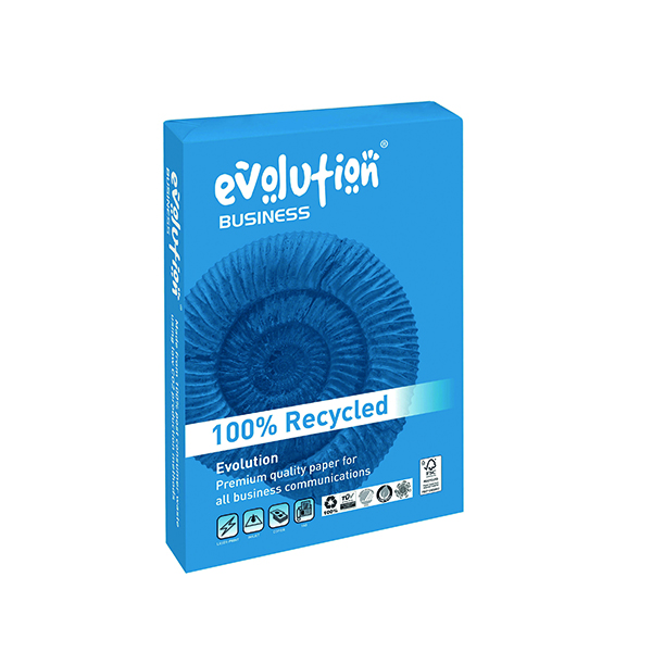 Evolution Business A3 Recycled Paper 80gsm White Ream (Pack of 500) EVBU4280