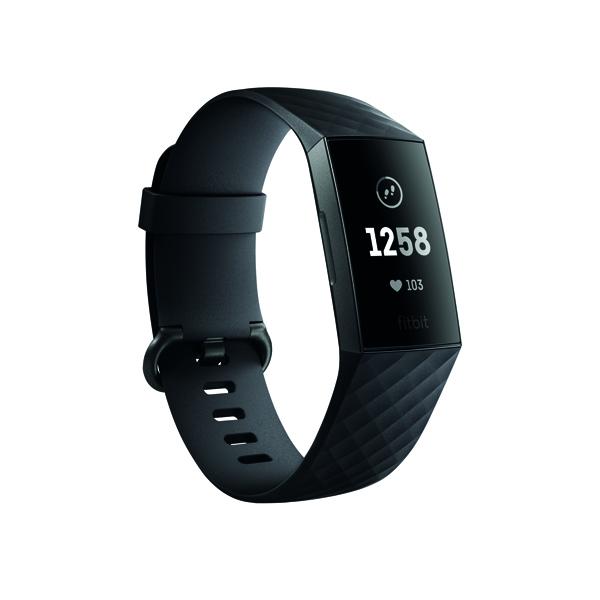 Image for Fitbit Charge 3 Black/Graphite Aluminium FB409GMBK-EU