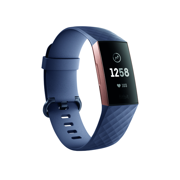 Image for Fitbit Charge 3 Blue Grey/Rose-Gold Aluminium FB409RGGY-EU