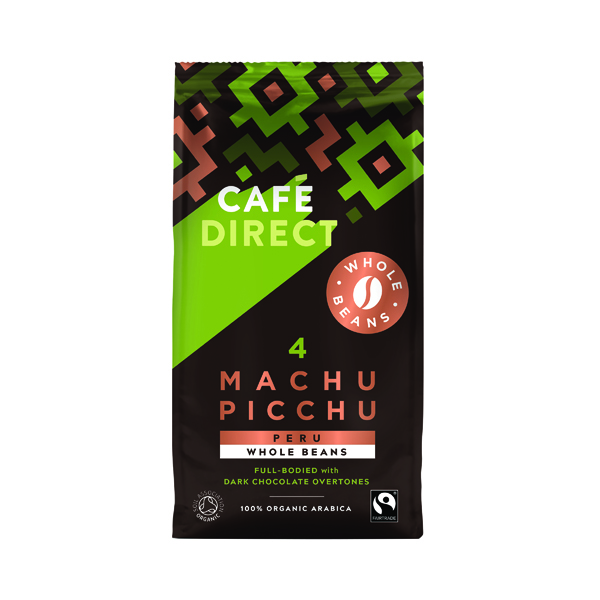 Cafedirect Machu Picchu Whole Coffee Beans 227g FCR1004