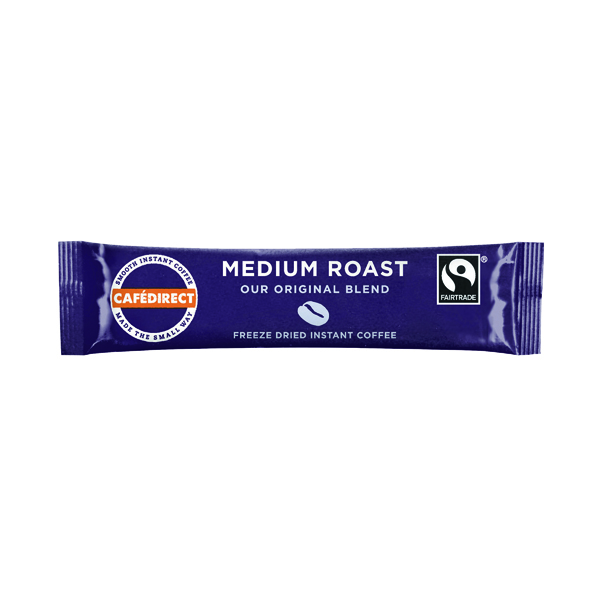 Cafedirect Smooth Roast Freeze Dried Coffee Sticks (Pack of 250) TWI41023