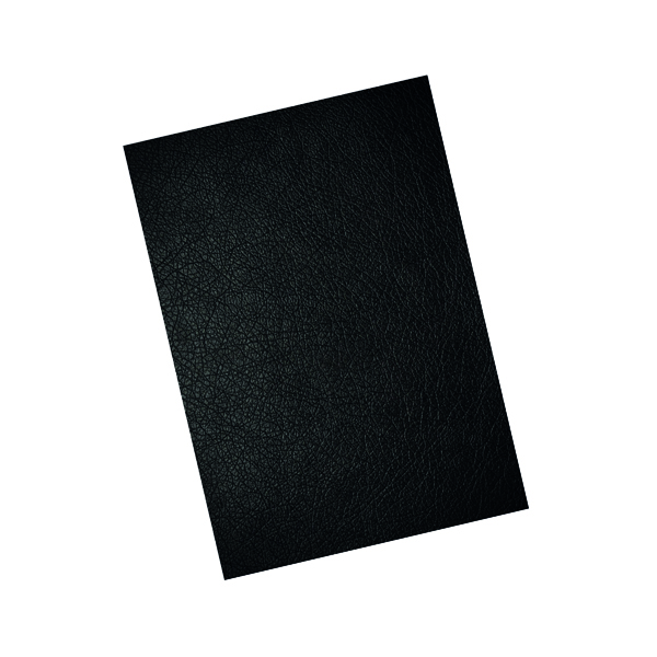 GBC LeatherGrain A4 Binding Covers 250gsm Black (Pack of 100) CE040010