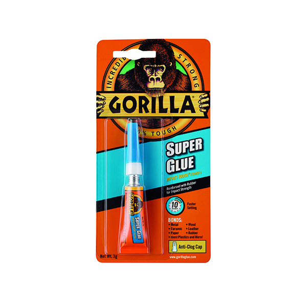 Image for Gorilla Super Glue Waterproof 3g Tube 4044301