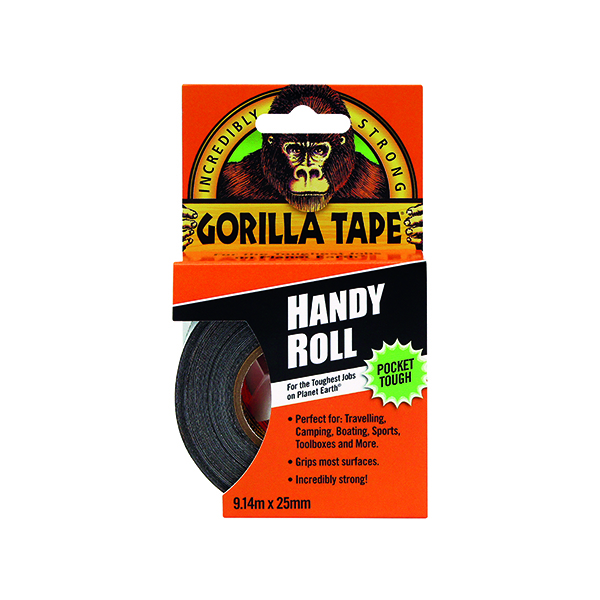 Image for Gorilla Tape Handy Roll 25mm x 9.14m Black 3044401