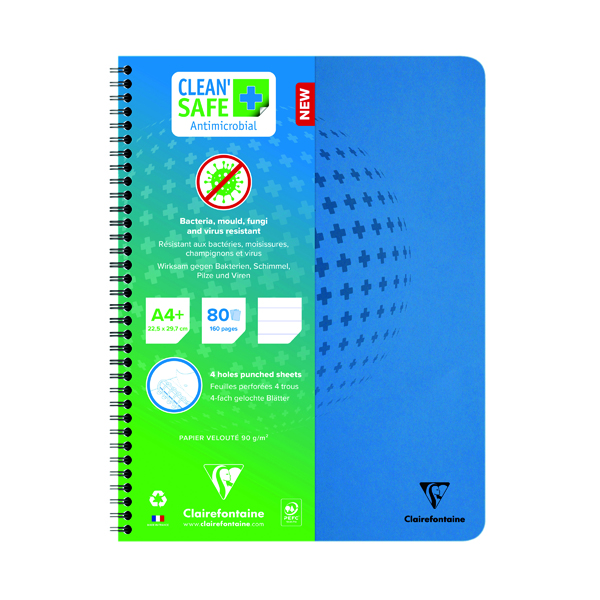 Clean Safe A4 Plus Notebook 160 Pages 82256C
