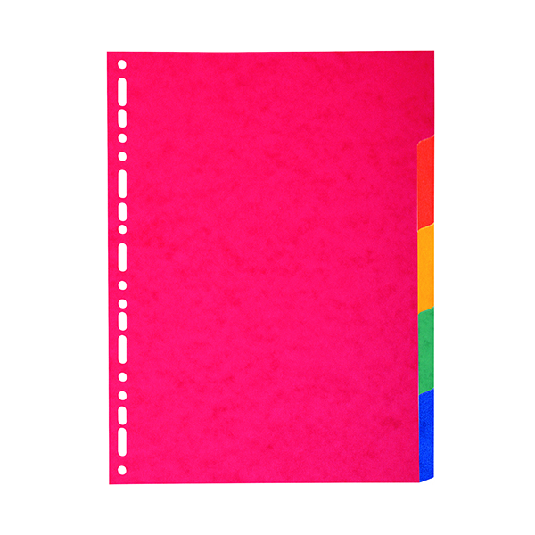Exacompta Recycled 5-Part Dividers 225gsm A4 Maxi Bright Multi 2105E