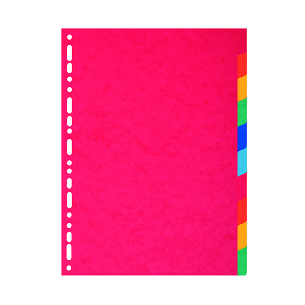 Exacompta Recycled 10-Part Dividers 225gm A4 Maxi Bright Multi 2110E