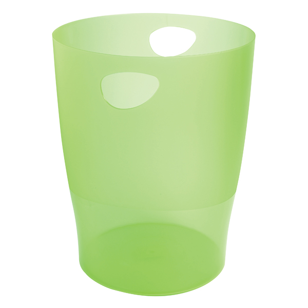 Image for Exacompta Iderama 15 Litre Waste Bin Lime (D263 x H335mm) 45397D