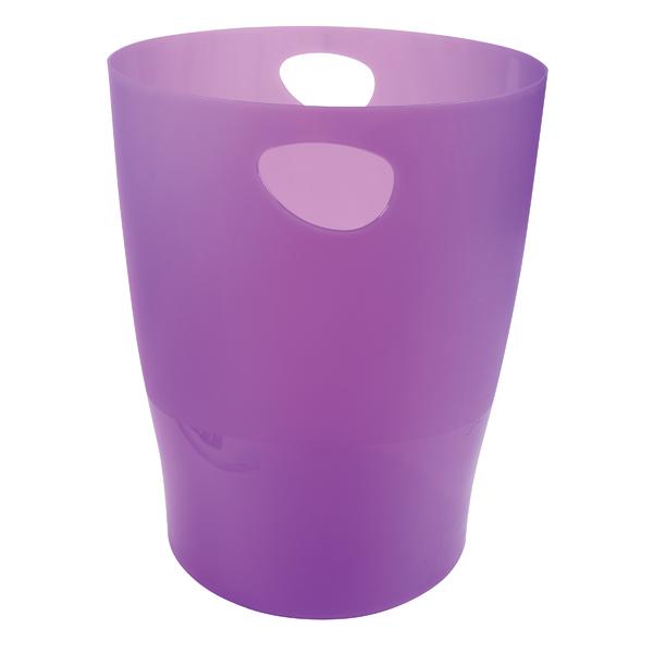 Image for Exacompta Iderama 15 Litre Waste Bin Purple (W263 x D263 x H335m) 45319D