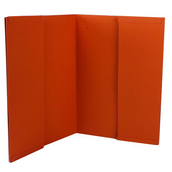 Exacompta Guildhall Legal Double Pocket Wallet Foolscap Orange (Pack of 25) 214-ORG