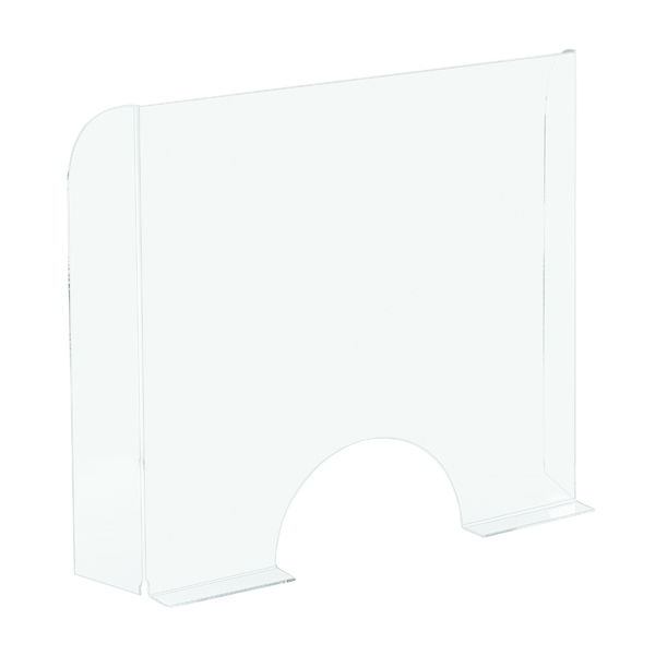 Exacompta Sneeze Guard Cashier Protection Stand 95x68cm 80058D (PPE / COVID-19)