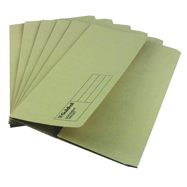 Exacompta Guildhall Document Wallet Foolscap Buff (Pack of 50) GDW1-BUF