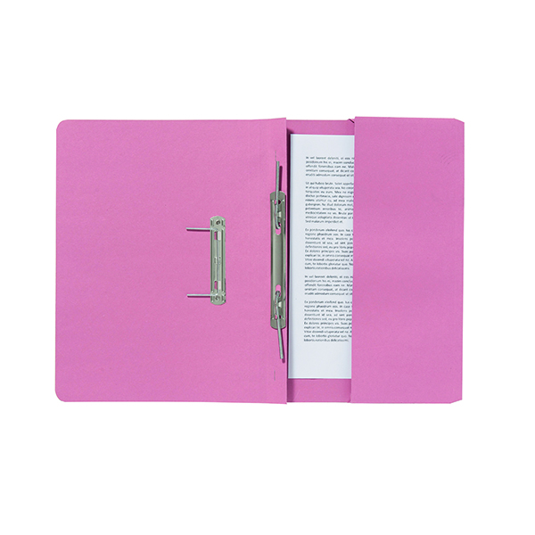 Exacompta Guildhall Pocket Spiral File 285gsm Pink (Pack of 25) 347-PNKZ