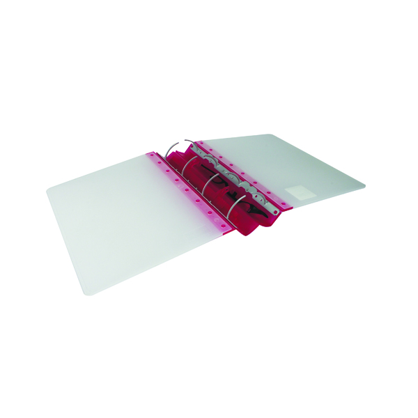 Guildhall GLX Ergogrip Ring Binder Frosted A4 Raspberry (Pack of 2) 4545