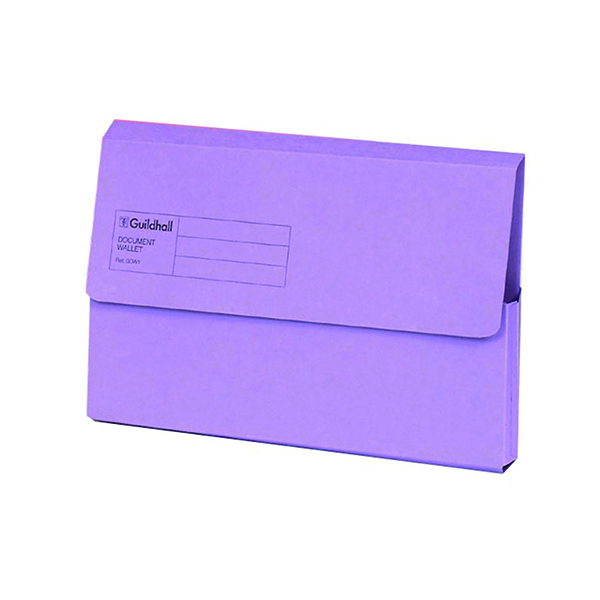 Exacompta Guildhall Document Wallet Foolscap Violet (Pack of 50) GDW1-VLT