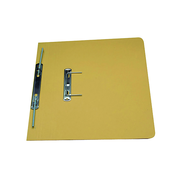 Exacompta Guildhall Transfer Spiral File 315gsm Foolscap Yellow (Pack of 50) 348-YLW