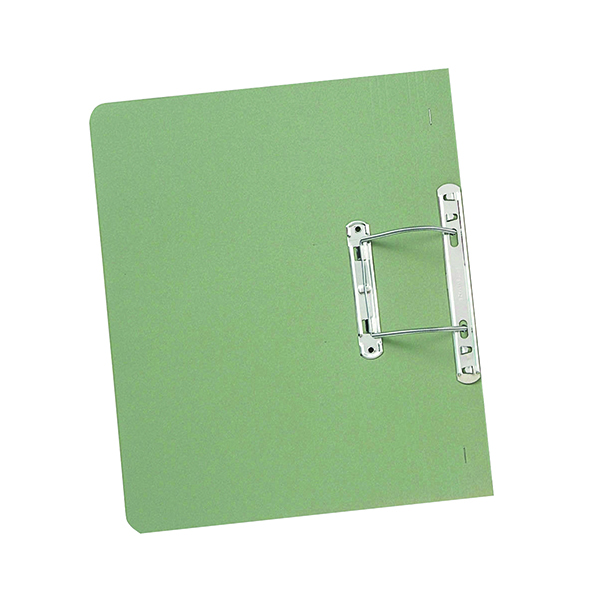 Exacompta Guildhall Heavyweight Transfer Spiral File 420gsm Foolscap Green (Pack of 25) 211/7002