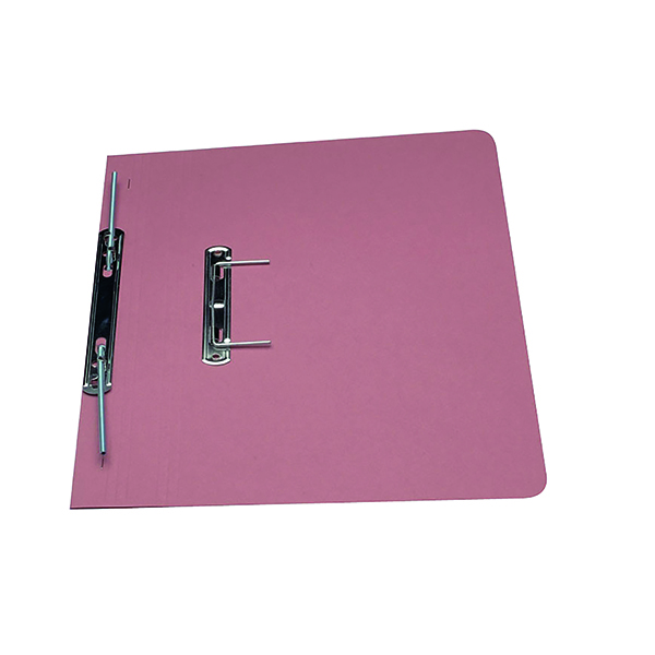 Exacompta Guildhall Heavyweight Transfer Spiral File 420gsm Foolscap Pink (Pack of 25) 211/7006