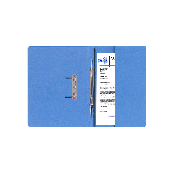 Exacompta Guildhall Right Hand Transfer Spiral Pocket File 315gsm FC Blue (Pack of 25) 211/9060Z