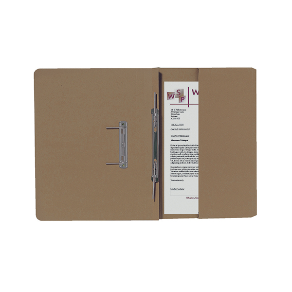 Exacompta Guildhall R/Hand Transfer Spiral Pocket File 315gsm FC Buff (Pack of 25) 211/9061Z