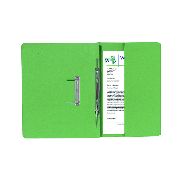 Exacompta Guildhall Right Hand Transfer Spiral Pocket File 315gsm FC Green (Pack of 25) 211/90662Z
