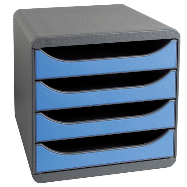 Exacompta Iderama Big Box 4 Drawer Set Blue 310779D