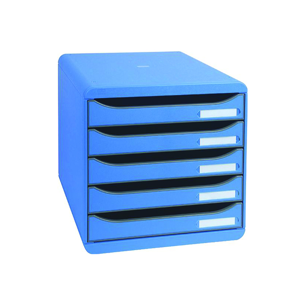 Exacompta Big Box Plus 5 Drawer Set Blue (Comes with label holders and inserts) 309779D